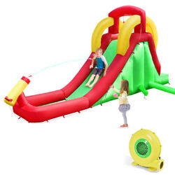 Inflatable Water Slide Bounce House Home Kids Jumper Climbing w 480W Blower $239.39