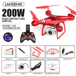 Adjustable Remote Control Drones Quadcopter FPV HD Camera Drone Toy Gift 1600mAh $57.47