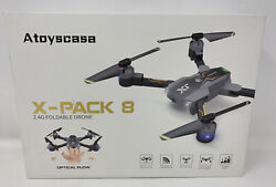 Atoyscasa X Pack 8 2.4G Foldable Drone W Optical Flow Variable Speed B TO $19.98