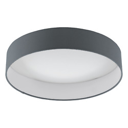 Ceiling To LED Modern Fabric Anthracite 18w Glo 96538 Palomaro 1 $180.93