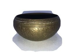 Vintage Brass Engraved Bowl. Made In India. $16.00