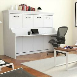 """URBAN LOFT quot;ANDRYA"""" Queen Murphy Wall Bed Easy Install White w Desk $3095.00"""