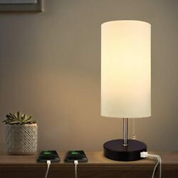 USB Table Lamp with 2 Charging Ports for Recharge Devices Albrillo MT18286 $21.99