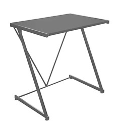 Urban Shop Student Z Desk Silver $52.37