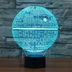 Death Star 3D illusion USB Prowerd Touch switch 7 Color LED Night Light Lamp $12.99