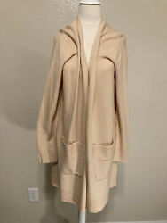 A New Day Long Women#x27;s Open Front Cardigan Sweater Mochaccino Knit Size LG NWT $16.99