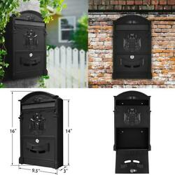 Large Vintage Outdoor Lockable Letter Post Box MailBox Wall Mounted Secure Mail. $29.19