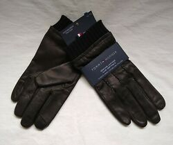 TOMMY HILFIGER LEATHER TOUCHSCREEN GLOVES SIZE XL $25.30