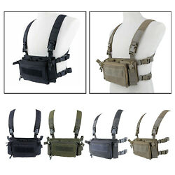 Mens Gaming Modular Tactical Vest Combat Gear Army Plate Carrier Holder $55.53