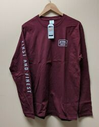 Official STIHL quot;First And Finestquot; Maroon Long Sleeve T shirt L amp; XL Sizes $29.99