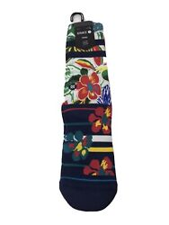 Stance quot;Messy STquot; Casual Crew Socks Floral Size Large 9 12 NEW WITH TAGS $13.99