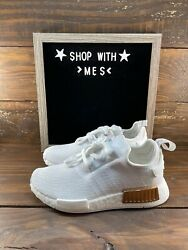 Adidas Originals NMD R1 Boost White Running Womens Shoes FV1788 NEW $99.99