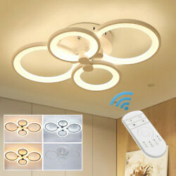 Acrylic Modern LED Ceiling Light Lamp Pendant Dining Room Dimmable Fixture w RC $69.00