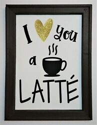 Painted Farmhouse Coffee Kitchen Reverse Canvas $25.00