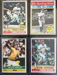 1976 Topps Baseball Cards Pick A Player 1 250 Complete your Set FLAT SHIP $1 $1.25