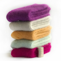 3 Pack 100% Wool Cashmere Women Socks Casual Winter Warm Sport Solid Thick Crew $15.99