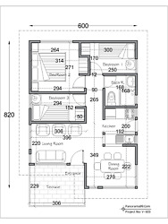 V 603 Modern tiny house plans 3 Bedroom with 1 bathroom Bungalow Floor Plans $4.75