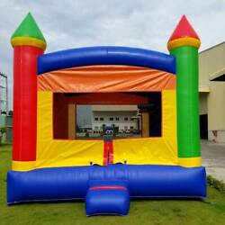 Kids Inflatable Bounce House With Blower Residential Rainbow Vinyl Jump Castle $699.99