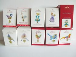 10X HALLMARK 12 DAYS OF CHRISTMAS ORNAMENTS NEW IN BOXES 2011 2020 $288.00