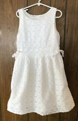 Lilly Pulitzer Girls 8 White Floral Lace Tank Dress Fully Lined $28.88