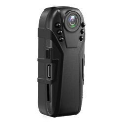 HD FHD Infrared Night Vision Small Camera Police Body Cam 125 Degrees Wide Angle $32.01