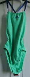 New Adidas womens teens Swimsuit Hi res green size 16 XL GBP 14.99