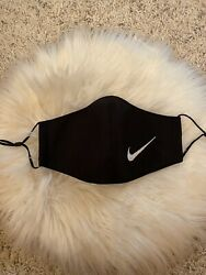 Black Swoosh Face Mask Adjustable Washable Pack Of 2 $12.00