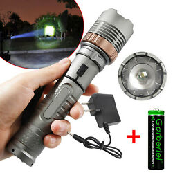 Rechargeable 900000LM Camping LED Flashlight T6 Tactical Police TorchBattChar $10.99