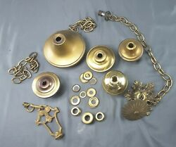Miscellaneous Vintage Lamp Parts spacers finials washers chain $25.00