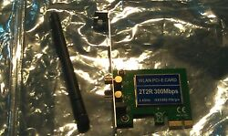 Realtek Wireless PCI E x1 Adapter 2T2R with 1 Antenna 2.4 GHz 802.11b g n $5.00