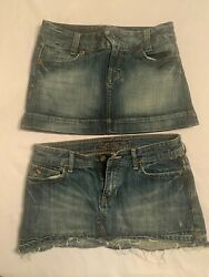 American Eagle Jean Skirts Size 4 Great Condition 2 Skirts  FREE SHIPPING $20.00