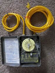 Intermatic Model T101 24 Hour Heavy Duty Time Switch and Yellow Jacket Wiring