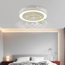 Invisible Ceiling Fan Light LED Chandelier Lamp W Remote Control Dimmable 32W $107.00