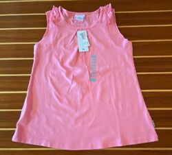 NWT NAARTJIE ESS SOLID SLEEVELESS TOP IN PINK COLOR PRETEND GIRLS SIZE 9 XXXL $12.00