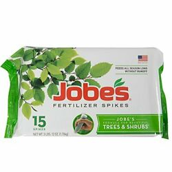 Jobe#x27;s Fertilizer Spikes for Trees amp; Shrubs time Release Nouris hat Roots15 Ct $14.49