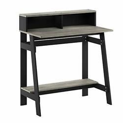 Furinno Simplistic A Frame Computer Desk Black French Oak Grey $54.61