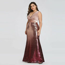 US Ever Pretty Plus Size Women Long Mermaid Gown Celebrity Evening Party Dresses $65.95