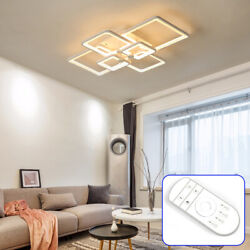 Modern Rectangle LED Acrylic Ceiling Light Chandeliers Home Light with RC Fast