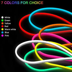 12V Flexible Sign Neon Lights Silicone Tube LED Strip Waterproof 1M 2M 3M 5M $6.99