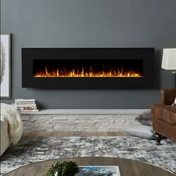 RealFlame Electric Wall Fireplace Corretto 72quot; Hanging Unit Real Flame Black $830.00