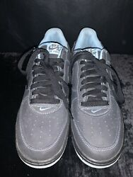 Men's 2005 Nike Air Force 1 Gray amp; Blue Shoes size 9 $74.99