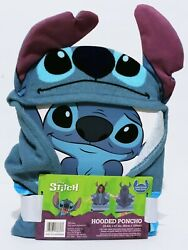 Disney Lilo And Stitch 3D Ears Poncho Kids Hooded Beach Towel 23.6quot;× 47.2quot; In. $19.95