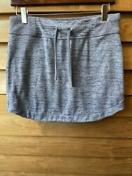 Athleta S small space dye blue stretchy mini skirt short casual stretchy active $19.00