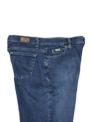 Lee Womens At The Waist Relaxed Straight Leg Blue Jeans High Rise Med Size 8 L $23.94