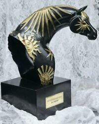 Sky Of Enchantment Trail of Painted Ponies Isle Magener Black Gold Horse Bust $134.99