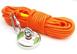 FISHING MAGNET KIT UPTO 1100 LBS Pull Force Neodymium With Rope And Carabiner $18.95