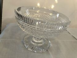 Waterford Crystal Vintage Period Castletown Pattern 7.25quot; Compote Footed Bowl $95.00