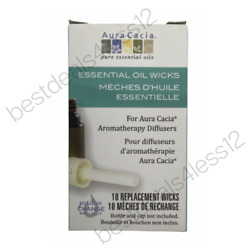 Aura Cacia Essential Oil Wicks Diffuser 10 Replacement Wicks Pack of 8 $49.39