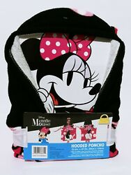 Disney Minnie Mouse 3D Ears Poncho Girls Hooded Beach Towel 23.6quot;× 47.2quot; In. New $19.95