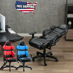 GAMING CHAIR RACING STYLE SWIVEL RECLINER COMPUTER OFFICE DESK SEAT HIGH BACK $87.99